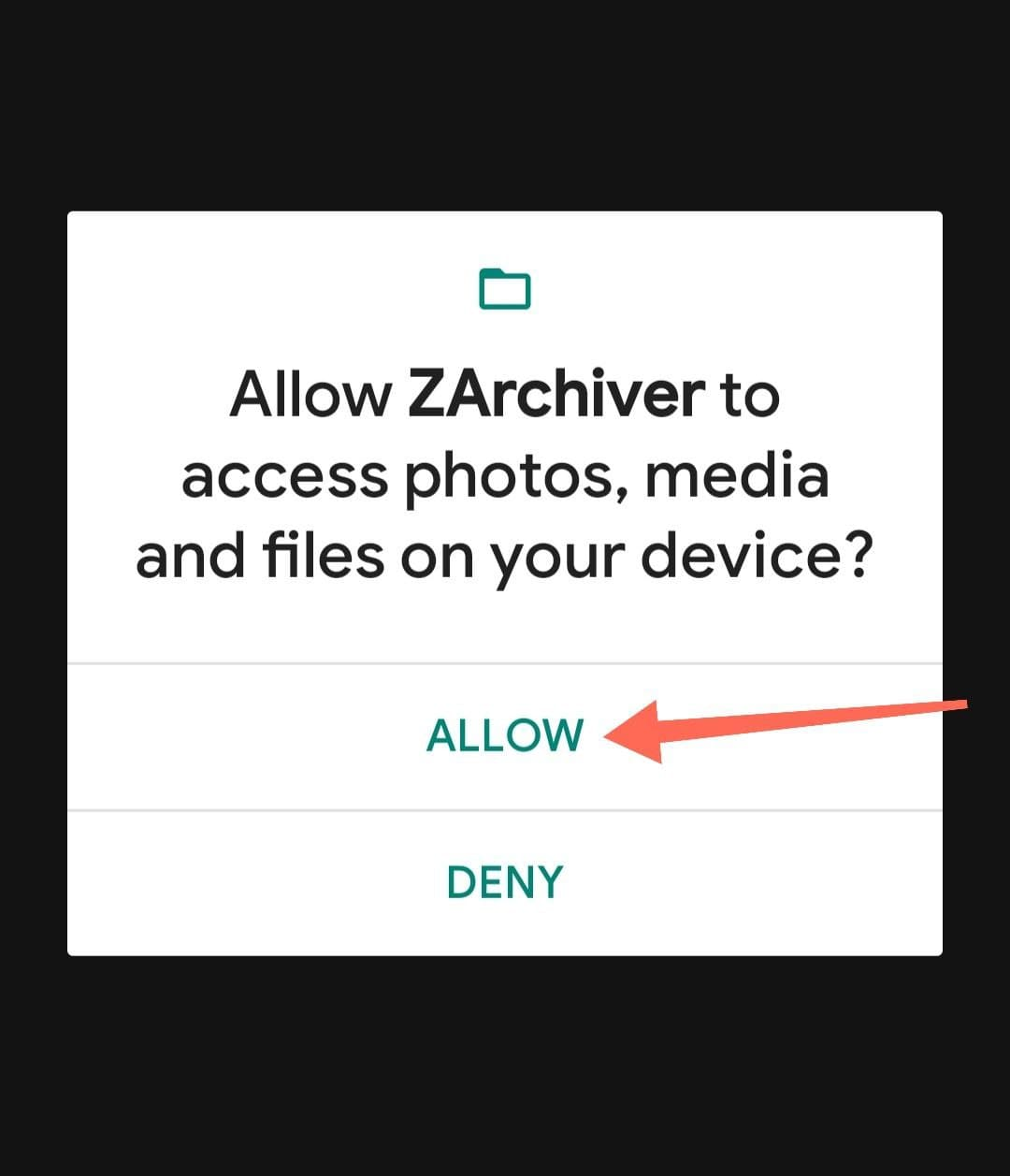 Allow Zarchiver To Access